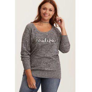 TORRID Sequin Beautiful Raglan Sweater 2